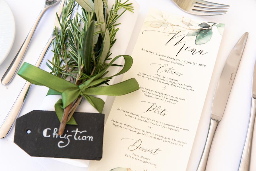 décoration table mariage monaco